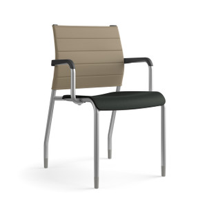SitOnIt Wit Thintex Back Side Stacker, arms and silver frame