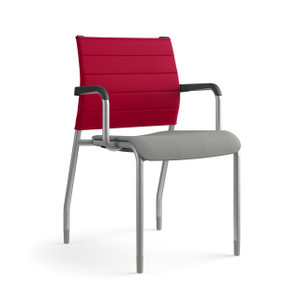SitOnIt Wit Thintex Back Upholstered Guest, with upholstered seat and silver frame