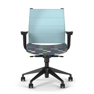 SitOnIt Wit Thintex Mid Back Task Chair, black base