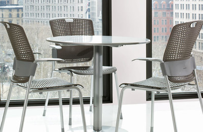 Humanscale Cinto Ergonomic Stack Chair in office setting