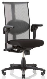HAG Inspiration Quickship Medium Back Tasker with Leather Seat and Standard Black Base