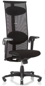 HAG Inspiration Quickship Medium Back Tasker with Leather Seat, Lumina fabric back and Standard Black Base