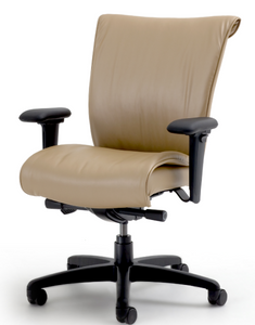 SitOnIt Glove Executive Leather High Back in Lena Leather