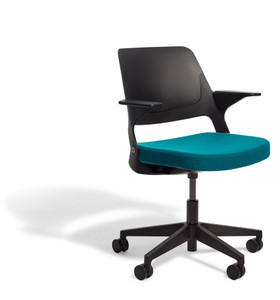 Ollo Light Task Chair with 5-Star Base, all black finishes and Delite seat upholstery