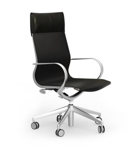 Curva High Back Leather Executive in leather