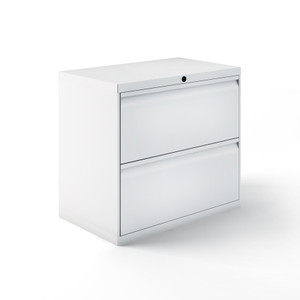 "Calibre 36""W Lateral Files, Two Drawer in Bright White"