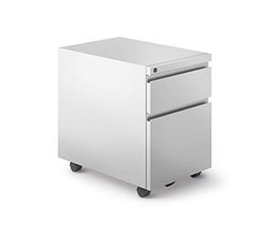 Series 2 Mobile Pedestal Quickship in Bright White