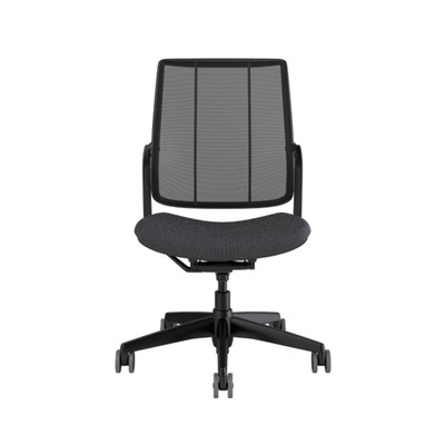 SmartOcean Chair, armless with black frame and Fourtis Granite seat upholstery