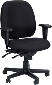 EuroTech 4x4 Center Tilt Task Chair with black fabric