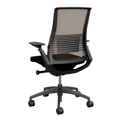 SitOnIt Vectra High Back Mesh Advanced Synchro Task with Nickel Mesh Back and Accent Color, Graphite Frame and Base with  Height Adjustable Arms