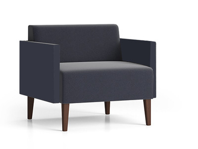 Luxe Heavy Duty Guest Chair with single upholstery and wood legs