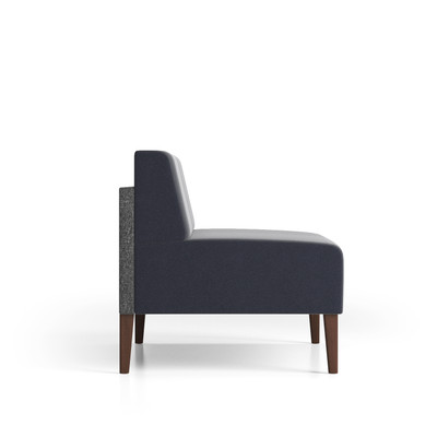 Luxe Heavy Duty Loveseat with contrasting upholstery and wood legs