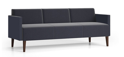 Luxe Heavy Duty Sofa with single upholstery and wood legs