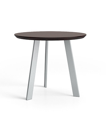 Luxe Series End Table with Silver legs and Graphite Twill laminate top