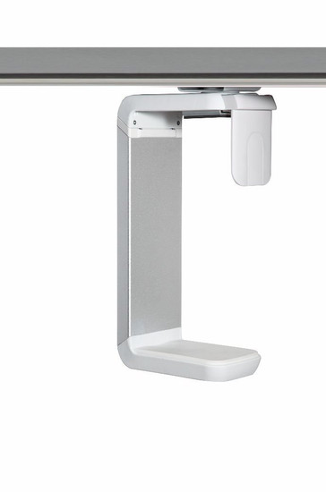 Humanscale CPU Holder (CPU600W) with White/ Brushed Aluminum