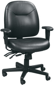 4x4 Leather Center Tilt Task Chair