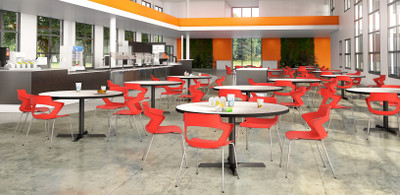 Zee Stackable Guest brightens up the cafeteria