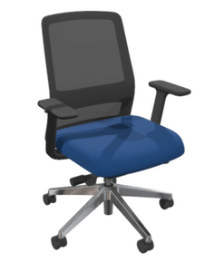 Jaku Black Frame Task Chair with Smart Sync, 3-way Adjustable Arms, Polished Aluminum Base