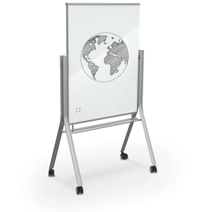 Visionary® Curve Magnetic Glass Board Opaque White