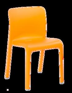 Pop 4 Leg Guest Stacking Chair Deep Orange