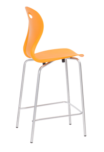 Lotus Counter Height Stool Deep Orange