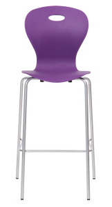 Lotus Bar Height Stool Blue Lilac