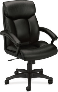 Hon Leather Executive High-Back with Integrated Headrest