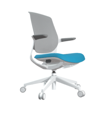 FLYT Grey Flex Back Task Chair with Caribbean seat