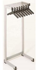 "Office Rak 24""with hat shelf in medium grey"