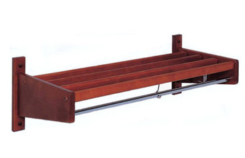 CLM Series Wall Mounted Coat Rack in Mahogany