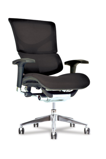 X3 Management Task Chair Plus with extra wide seat, black