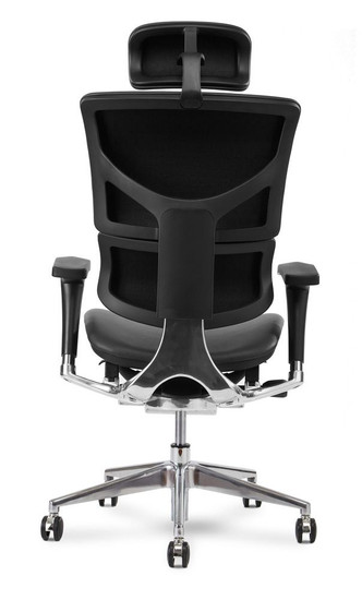X4 Leather Executive Task Plus with Headrest, Black Brisa