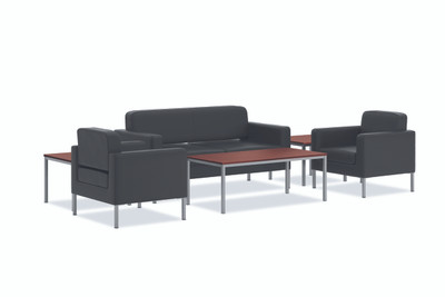 HVL887 Club Chair and HVL888 Sofa complete the ensemble