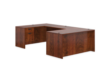 Offices To Go SL-A Executive U Desk Suite in American Dark Cherry ADC