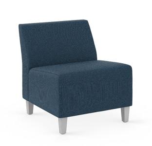 Flock Armless Modular Lounge Chair in Hamilton Oxford