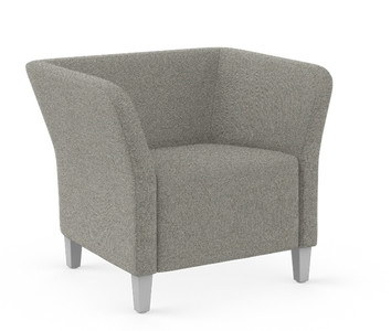 Flock Square Lounge Chair in Hamilton Dane