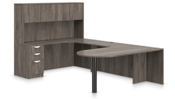 Offices To Go SL-F Executive Bullet Desk Suite in Artisan Grey