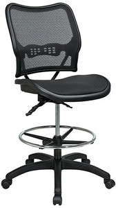 Deluxe Ergonomic AirGrid® Back Stool with Dual-Function Control