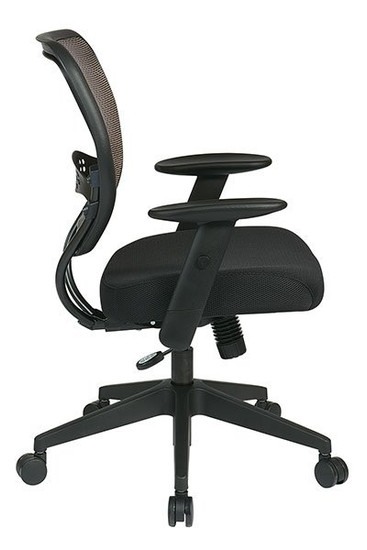 Latte Air Grid® Back with Black Mesh Seat side view in Latte Mesh and Black Seat