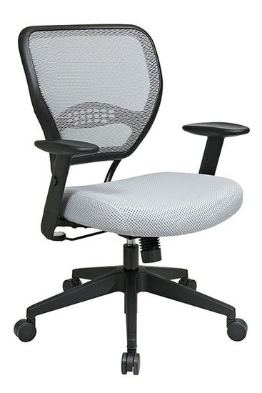 Air Grid® Back and Mesh Seat with Angled Arms in Shadow mesh and Shadow seat
