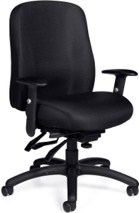 Offices To Go Multi-Function High-Back Chair with 2-Way Adjustable Arms