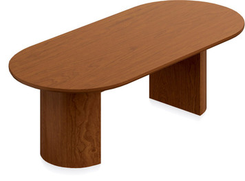 Ventnor Wood Veneer 8' Racetrack Conference Table in Toffee (TCH)