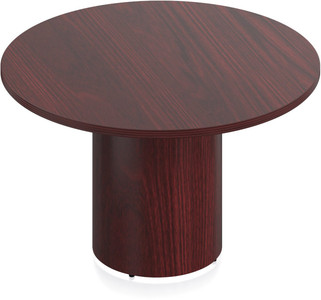 "Ventnor Wood Veneer 48"" Round Conference Table in Cordovan (CCH)"