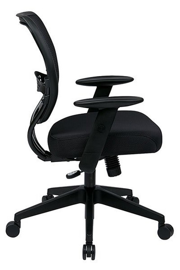 Black Mesh Air Grid® Back Task Chair side view