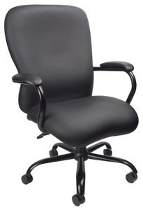 Heavy Duty Big & Tall Executive Chair in Black Softouch urethane