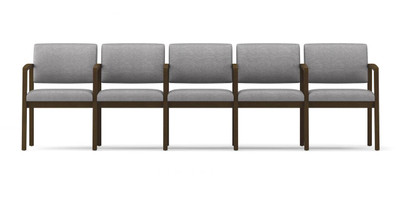 Lenox Open Arm 5-Seat Sofa with center arms