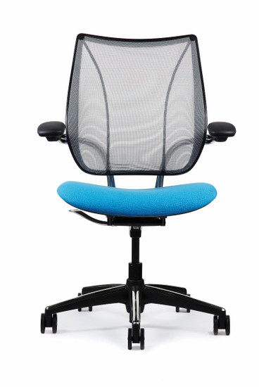 Humanscale Liberty Task Chair Shown in Black and Black Trim Frame
