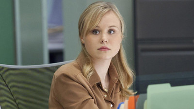 Alison Pill from the HBO hit series Newsroom in her Liberty chair