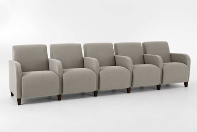 Siena Five Seat Sofa with Center Arms