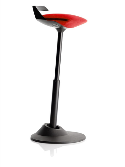 Via Muvman Standing Support Stool in Red Seat and Black Base
